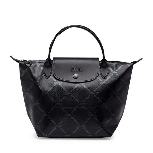 Longchamp LM Metal Small Handbag in Black 57a01228ab5fe